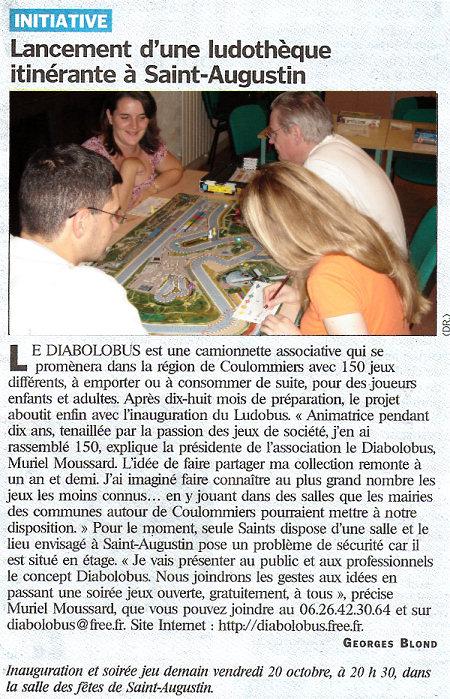Article paru dans le Parisien - Cliquez pour obtenir la version PDF